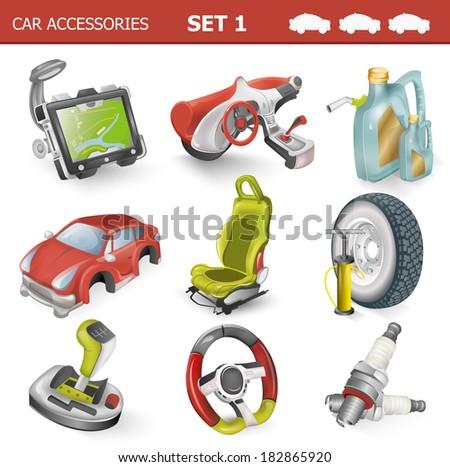 Car accessories                                - stock vector