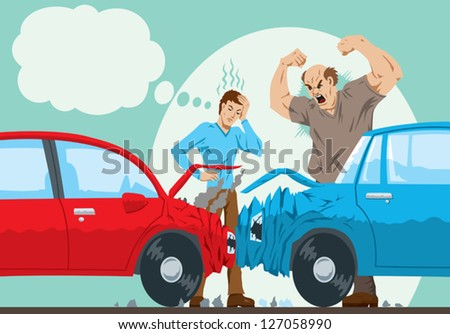 Car Accident - stock vector