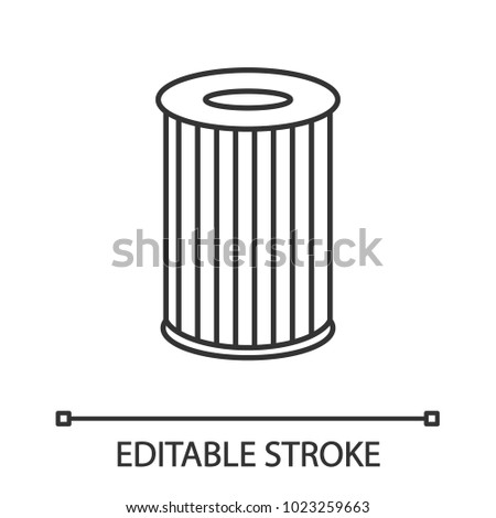 Car Air Filter Linear Icon Thin Stock Vector Royalty Free