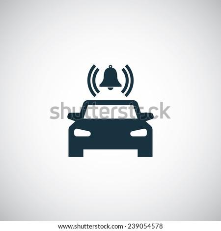 car alarm icon on white background  - stock vector