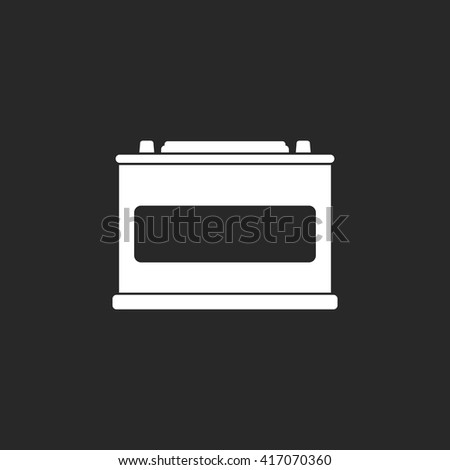 Car battery accumulator sign simple icon on  background - stock vector