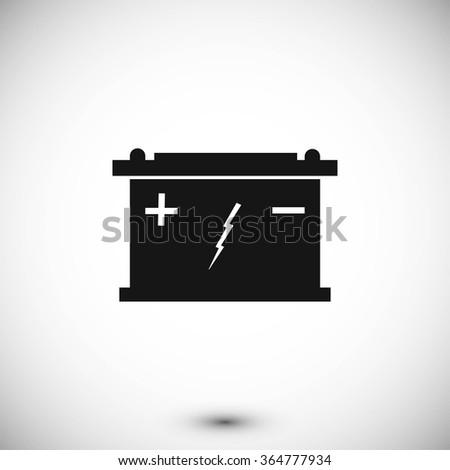 Car battery icon - stock vector