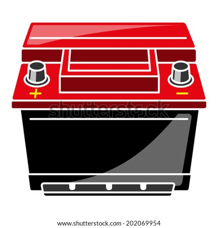 Car Battery Vector Illustration - stock vector