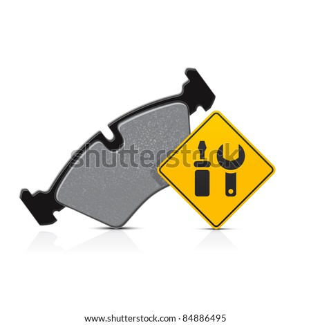 car brake pad service icon - stock vector