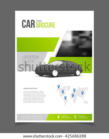 Car brochure auto leaflet brochure flyer stock vector for Car brochure template