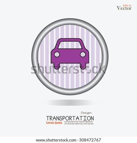 Car .car icon. Transportation icon.Vector illustration.