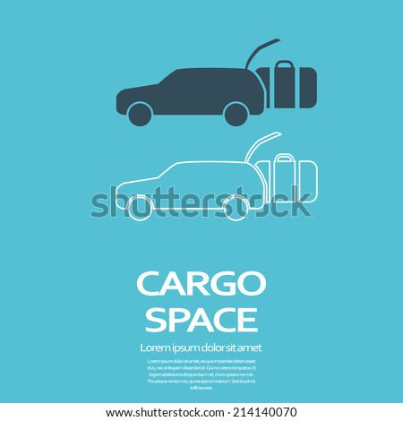 Car cargo space promotion icon. Eps10 vector illustration. - stock vector