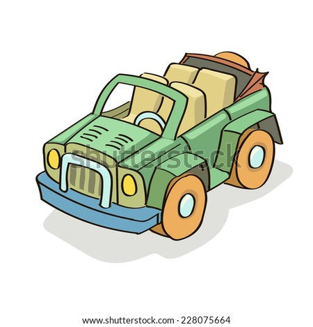 Car cartoon colored isolated vector