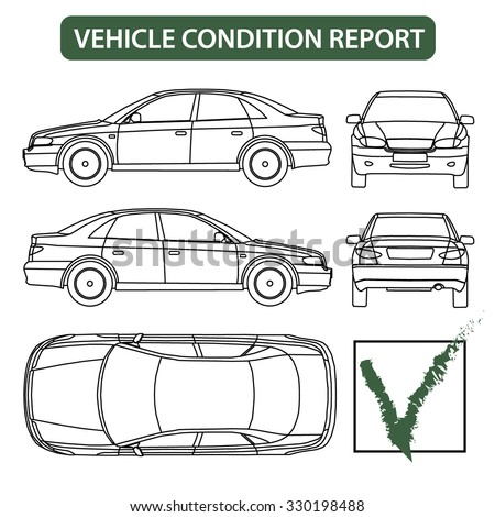 Car Condition Form Vehicle Checklist Auto Stock Vector 330198488