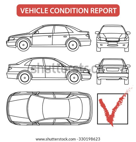 Car Condition Form Vehicle Checklist Auto Stock Photo (Photo, Vector ...
