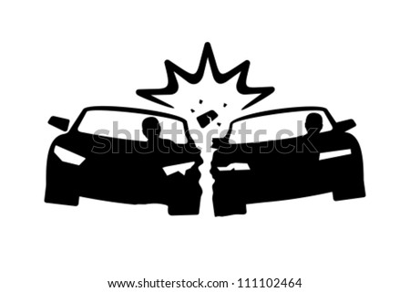 Car Crash - stock vector