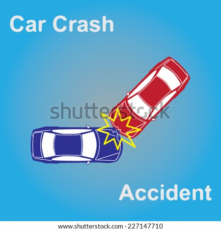 Car Crash - stock vector