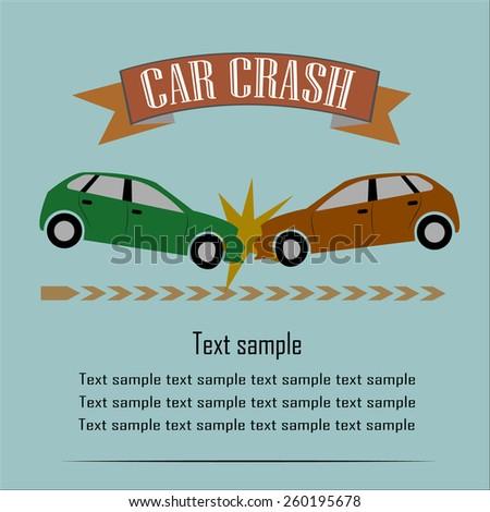 Car Crash Vector Illustration EPS10 - stock vector
