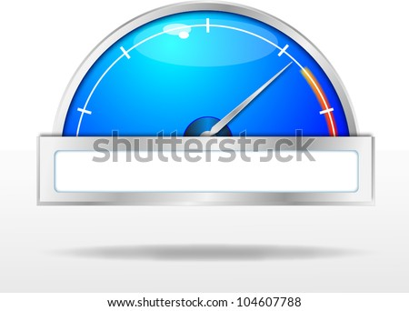 Car dashboard, 10eps - stock vector