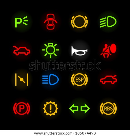 Dashboard Lights Stock Images RoyaltyFree Images  Vectors - Car sign on dashboard