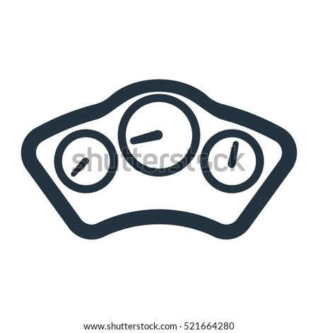 Car Dashboard Panel Isolated Icon On Stock Vector - Car image sign of dashboardcar dashboard icons stock images royaltyfree imagesvectors