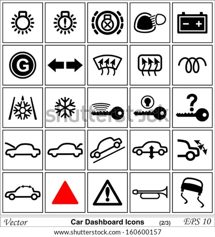 Car Horn Icon Stock Images RoyaltyFree Images  Vectors - Car image sign of dashboard