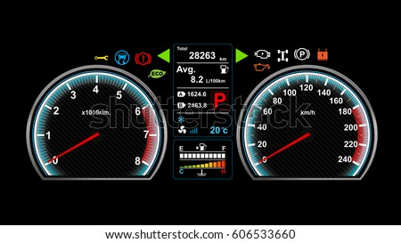 Car Dashboard Vector Illustration Eps Stock Vector - Car image sign of dashboardcar dashboard icons stock photospictures royalty free car