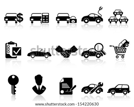 car dealership icons set  - stock vector