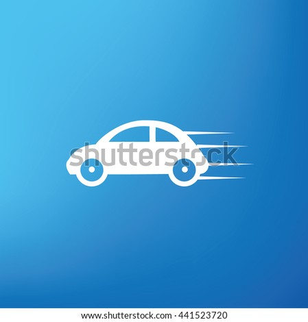 Car design on blue background,vector