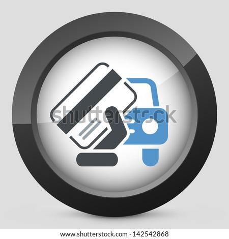 Car document icon - stock vector