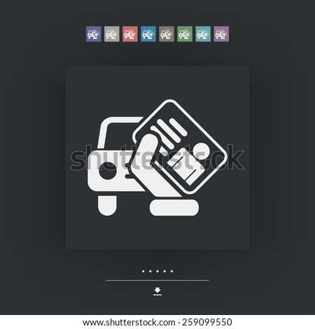 Car document icon - stock vector