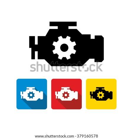 Car engine icon  - stock vector