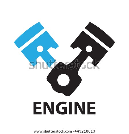 Car Engine Piston Icon Symbol Stock Vector Royalty Free 443218813