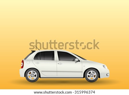 Car from side, view, illustration - stock vector