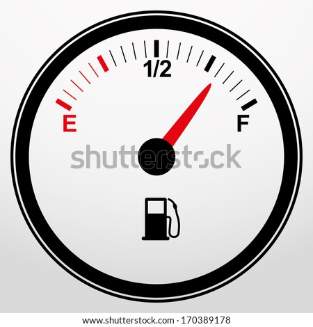 Car fuel gauge icon, vector illustration