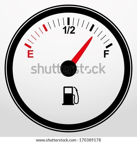 Car fuel gauge icon, vector illustration  - stock vector
