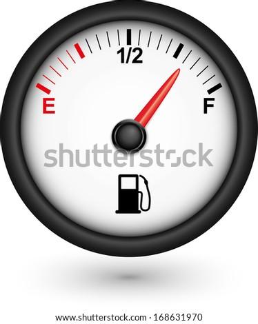 Car fuel gauge, vector illustration  - stock vector