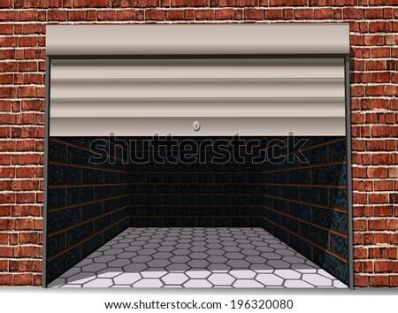 Car garage - stock vector