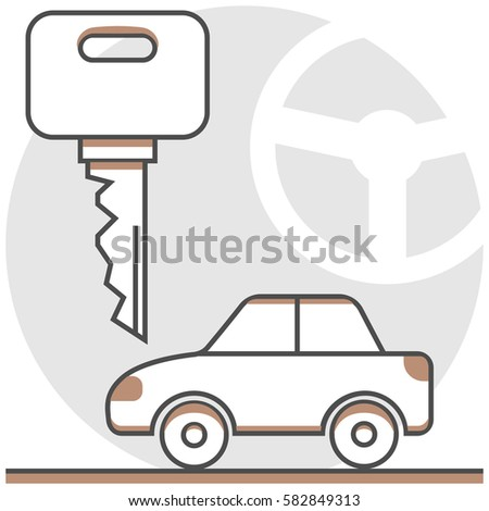 Car Hire Infographic Icon Elements Hotel Stock Vector 582849313