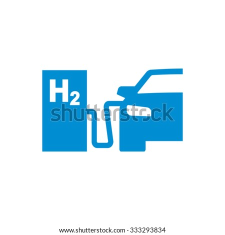 Car Hydrogen Station Vector Icon  - stock vector