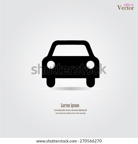 Car icon.car icon vector on gray background. Vector illustration. - stock vector