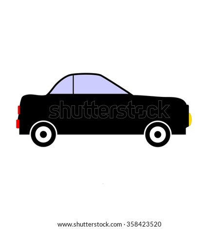 Car icon on white background. Vector illustration.