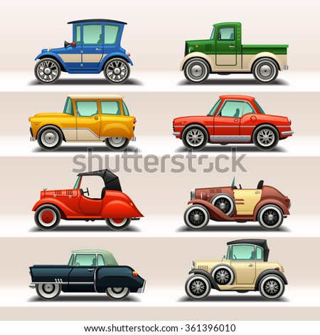 car icon set-5