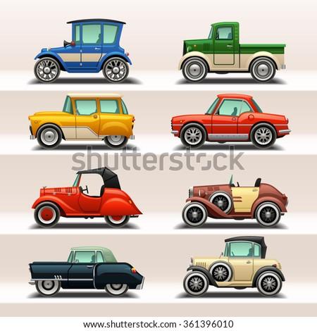 car icon set-5 - stock vector