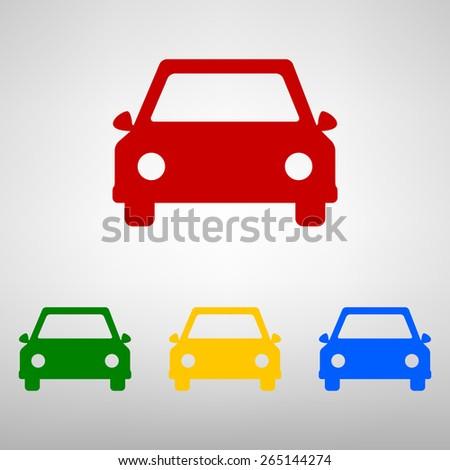 Car icon. Vector.  - stock vector