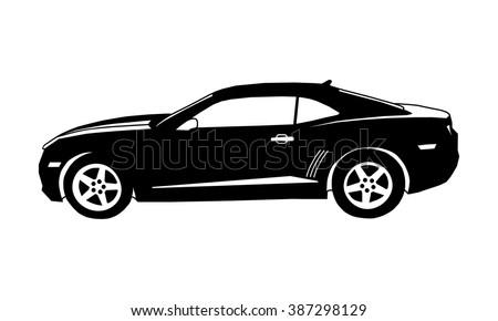 Car Icon Vector Icon Sport Car Vector de stock387298129: Shutterstock