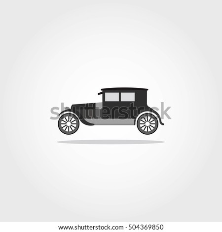Car Icon With Color Vector Illustration