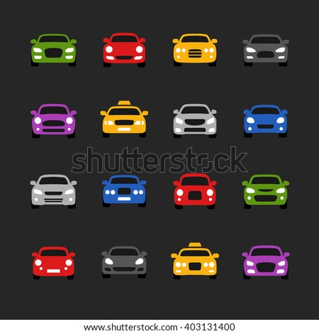 car icons  - stock vector