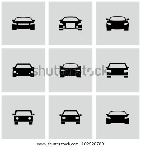 Car icons set - stock vector