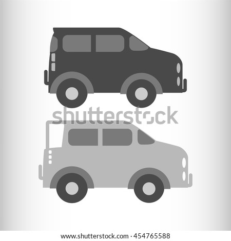 Car icons set. - stock vector