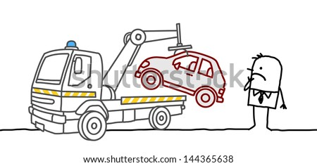 car impounded - stock vector