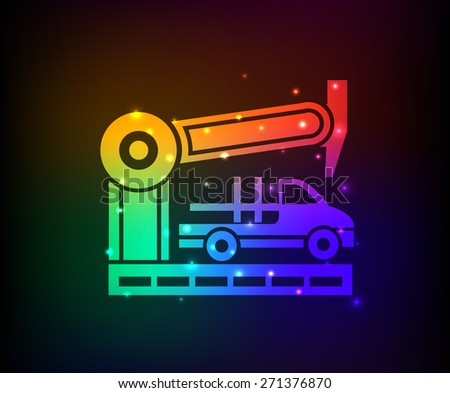 Car industry design on rainbow concept background,clean vector