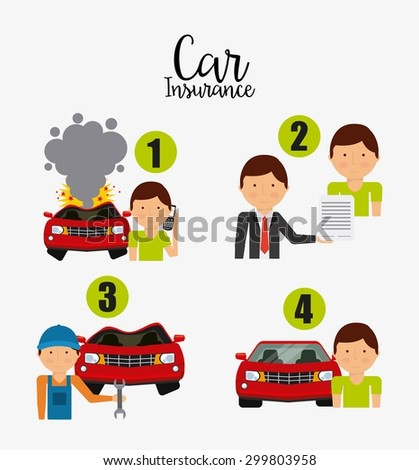 car insurance design, vector illustration eps10 graphic  - stock vector