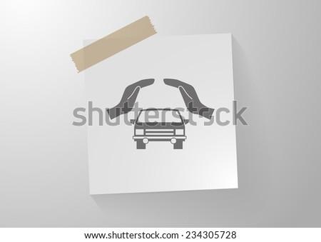Car Insurance web icon. vector design - stock vector