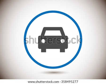 car isolated vector icon